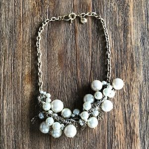 J Crew large pearl detail necklace